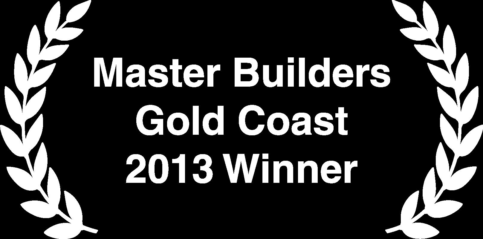 Master Builders Gold Coast 2013 Winner
